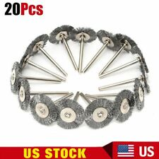 20X Stainless Steel Wire Wheel Brush For Dremel Rotary Tool Die Grinder Removal