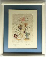 Wildflowers Hand Signed and Framed Beautiful Flower Print Embossed Color