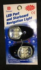 LED PORT STARBOARD NAV LIGHT PAIR BLACK NAVIGATION RIB BOAT YACHT NAVIGATION