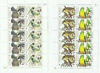 1998 AUSTRALIA SE-TENANT STAMP MINI SHEETS X 2 'ENDANGERED BIRDS 5c & 45c' - MNH