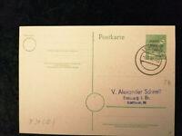 Deutschland  Alliierte Besetzung 06.08.1948 -Ganzsache Karte Leipzig,BPP geprüft