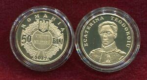Romania 50 Bani  2017 Ecaterina Teodoroiu, Heroine of the WWI ,nice Proof Coin
