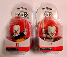 "IT / ES Pennywise (1990) + Pennywise (2017) - Scalers (2"" / 5 cm) NECA"