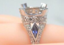 Antique Vintage Ring Setting Mounting Platinum Hold 11-12MM Ring Size 6 UK-L1/2