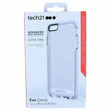 TECH21 EVO CHECK CASE FOR IPHONE 6 PLUS/6S PLUS CLEAR/WHITE SUPM45503 BRAND NEW