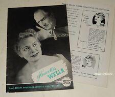 Revue 1954 Nouvelles WELLA N°6 - Produits & Accessoires pour les cheveux Vintage