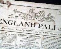 MARTHA WASHINGTON DEATH President George Wife Mount Vernon 1802 Old Newspaper