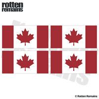 "Canada Flag Decal Sticker 3""x1.5"" 4 Pack Canadian Maple Leaf Vinyl ZU1"