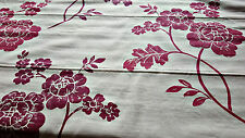 LAURA ASHLEY HOME MARCIANA CRANBERRY READY MADE ROMAN BLIND LARGE 1.2M-W 1.5M-L