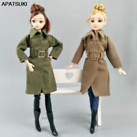 "Office Lady Fashion Coat For 11.5"" 1/6 Doll Clothes & Shoes Trench Coat Outfits"