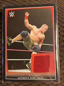 WWF WWE 2015 Topps Authentic Shirt Relic Card John Cena