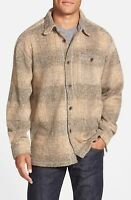 True Grit Men's Melange Blanket Solid Plaid One Pocket Big Shirt Size Small