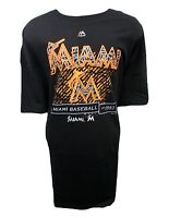 Miami Marlins Men's Big & Tall XLT-5XLT Black 'Pop' Graphic T-Shirt MLB