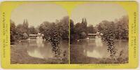 Versailles Piccolo Trianon Il Lac Foto Lamy Stereo L53S Vintage Albumina c1865