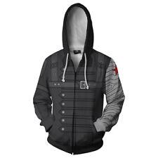 Captain America The Winter Soldier Bucky Barnes Costume Hoodie Jacket Sweatshirt