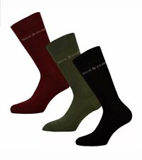 Mens Duck and Cover Mens 3 Pack Bowker Solid ASST Socks in Green