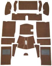 MG MIDGET/AH SPRITE CARPET SET BROWN WITH HESSIAN BACKING  68-80