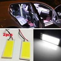 2x DC 12V Bright White 36COB LED Xenon HID Dome Light Bulb Interior Panel Lamp z