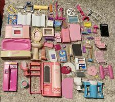 Vintage Barbie Dream House Furniture Lot and Other Playsets HUGE LOT TLC