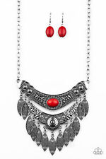 ~Island Queen~ Red Necklace w/earrings Paparazzi Jewelry