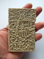 ANTIQUE VICTORIAN CHINESE CANTON HAND CARVED CARD CASE.