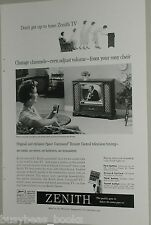 1959 Zenith advertisement, early television ZENITH Space Command Remote Control