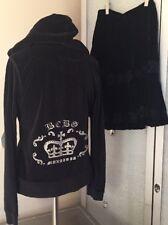 BCBG Max Azira 6 Black Velvet Skirt