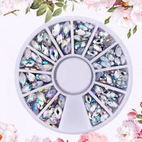 Heteroideus Nail Art Rhinestones Glitter Diamond Gems 3D Tips DIY Decoration