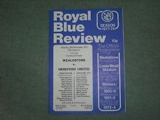 WEALDSTONE  V  HEREFORD UNITED  (FA CUP 1ST ROUND TIE)  26-11-77