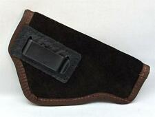 SUEDE LEATHER INSIDE THE PANTS GUN HOLSTER FITS 410 JUDGE - BROWN
