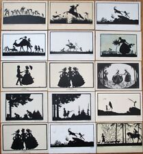 Silhouette 1920s Postcards, Artist-Signed COLLECTION OF TWENTY-SIX