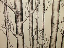 2m Silver Birch Tree Photo Digital Printed Designer Cotton Upholstery Fabric