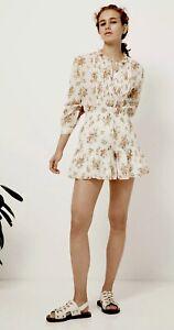 Rebecca Taylor La Vie Womens Size XL Ivory Madeleine Ruffled Floral Shorts