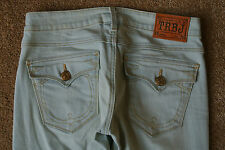 TRUE RELIGION BECKY Jeans 26X34 NWOT$300 Sexy Light Blue Wash! Flare Leg!