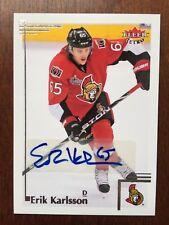 2012-13 Fleer Ultra Retro Erik Karlsson Auto Rare Autograph Ottawa Senators