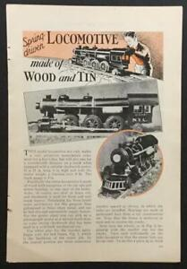 NYCRR Steam Locomotive 2-6-2 Spring Driven 1933 HowTo build PLANS wood & tin