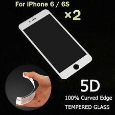 2PCS 5D Full Cover edge Tempered Glass Screen Protector For iPhone 6s iPhone 6