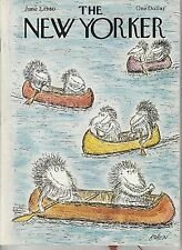 JUNE 2 1980 vintage NEW YORKER magazine CANOE MONSTERS