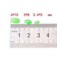 100X Glow Beads Rigs Making Soft Luminous Fishing Bead Oval Shaped 5/8/10mm ^^