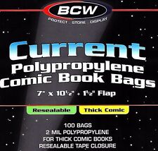 800 Current Resealable THICK Comic Bags and Boards BCW Archival Book Storage