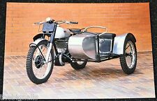 Classic 1952 500cc NORTON 500T trials combination. Motorcycle Postcard