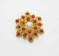 Diamante Pearl Wedding/Hat/Bridal/Prom Party Hijab Scarf Clip FLOWER Brooch Pin