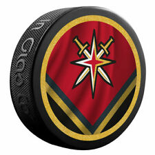 VEGAS GOLDEN KNIGHTS Retro Reverse Double-Sided Logo NHL SOUVENIR PUCK Inglasco