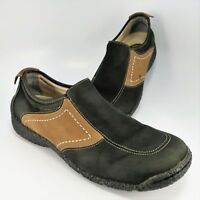 Dunham Driving Moccasin Womens Size 9B Black-Brown Leather Loafer by New Balance