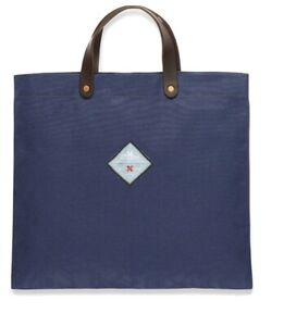 New! Best Made company Co x Seil Marschall Blue canvas tote bag. Made in Germany