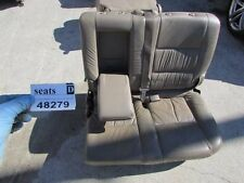 01 02 04 toyota sequoia rear back 2nd row left driver side tan leather seat OEM