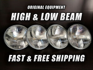 OE Front Halogen Headlight Bulb Pontiac Bonneville 1958-1974 High Low Beam x4