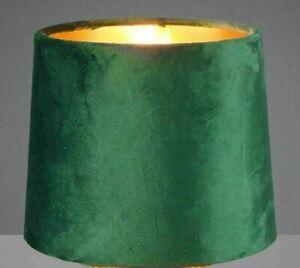 E14 Stoffschirm Boho Ersatzschirm Tischlampe Lampenschirm Velour gold Samt grün