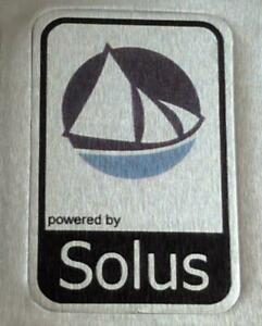 Powered by solus Linux Aluminium Metal Decal Sticker Computer PC Laptop Badge
