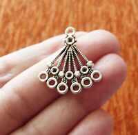 2x Fan Chandelier Earring Findings 6 Hole Multi Connector Pendant Jewelry Making